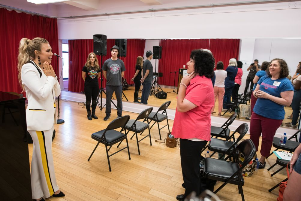 CELEBRITIES 'Fight Song' singer Rachel Platten encourages cancer patients to find 'self-love' in hardship